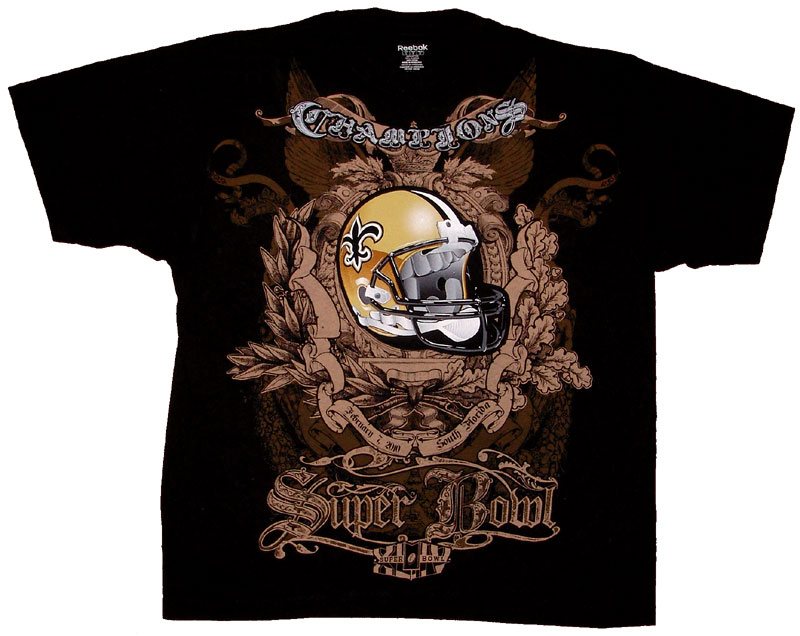 Orleans saints super bowl champions two sided full print for Shirt printing new orleans